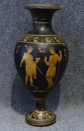 Terra Cotta Vase W/ Etruscan Style Decoration