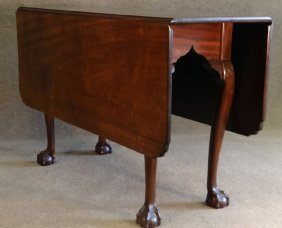 18thc. Phila.chippendale Dropleaf Table