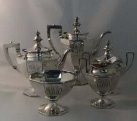 Sterling Silver 5 Pc Gorham Coffee & Tea Service