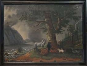O/c 19thc. American Folk Art Painting