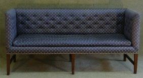 C.1810 Inlaid Federal Box Sofa W/ 3 Medial Seat