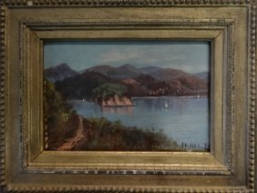 "O/bd ""hudson River Scene From Mills Mansion"""