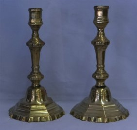 Pr Of French 18thc. Candlesticks