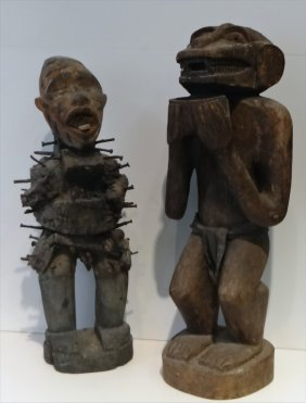 2 Totemic Figures, Gold Coast, Tallest 21""