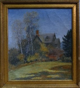 """O/c """"house In The Country"""" Sgnd Macowin Tuttle"""