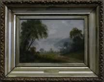 OC RIVER LANDSCAPE SGND J WALSH 1872  9 X 13