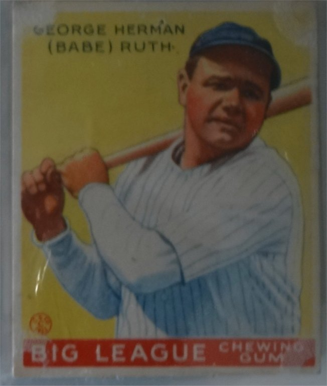 NEAR COMPLETE SET OF 1933  GOUDEY BASEBALL CARDS - 10