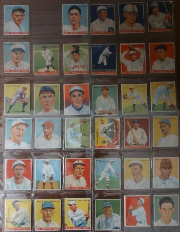 NEAR COMPLETE SET OF 1933  GOUDEY BASEBALL CARDS - 4