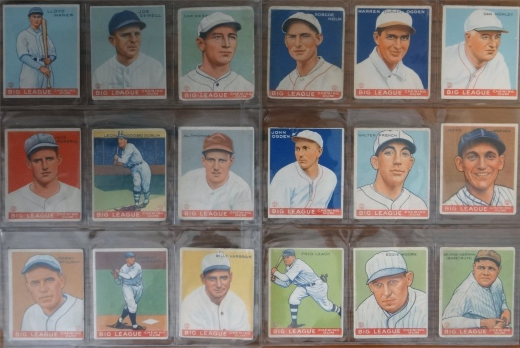 NEAR COMPLETE SET OF 1933  GOUDEY BASEBALL CARDS - 7