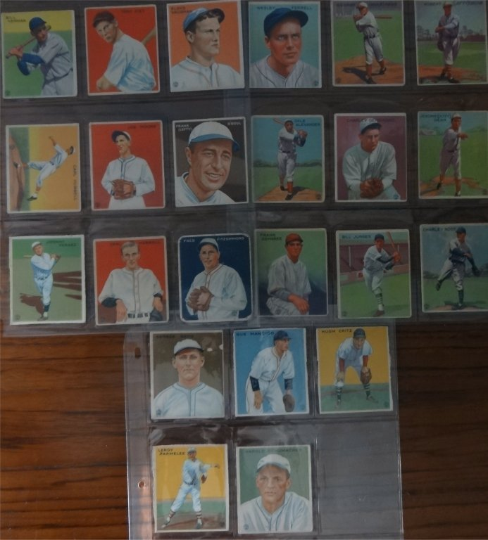 NEAR COMPLETE SET OF 1933  GOUDEY BASEBALL CARDS - 9