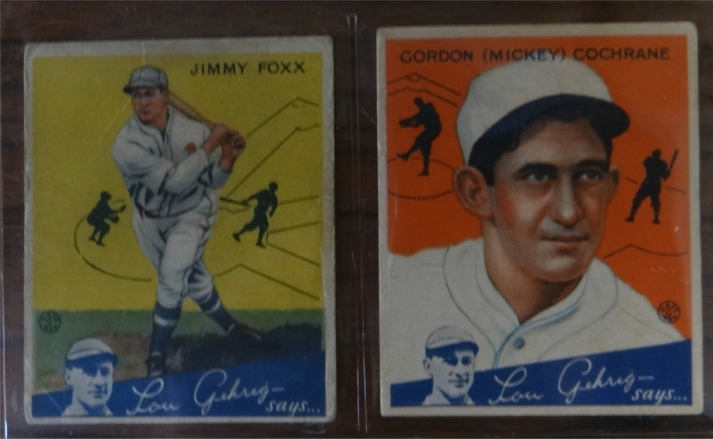 "1934 GOUDEY ""LOU GEHRIG SAYS"" BASEBALL CARDS (39) - 10"