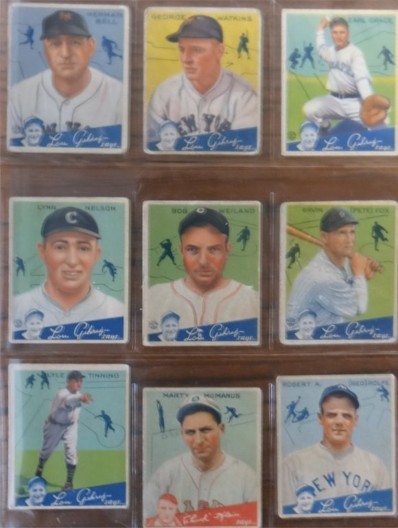 "1934 GOUDEY ""LOU GEHRIG SAYS"" BASEBALL CARDS (39) - 5"