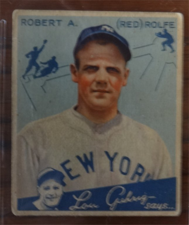 "1934 GOUDEY ""LOU GEHRIG SAYS"" BASEBALL CARDS (39) - 6"