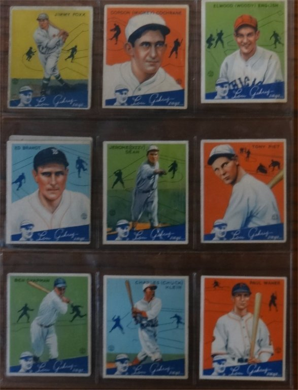 "1934 GOUDEY ""LOU GEHRIG SAYS"" BASEBALL CARDS (39) - 7"