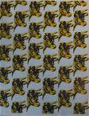 """ANDY WARHOL """"COW """" WALL PAPER PRINT"""