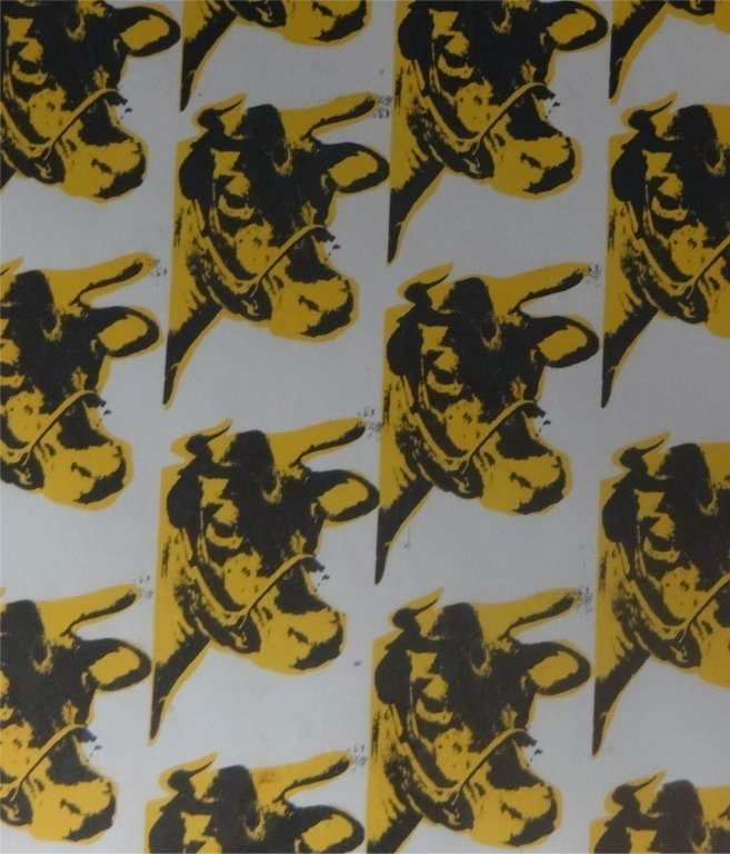 """ANDY WARHOL """"COW """" WALL PAPER PRINT - 2"""