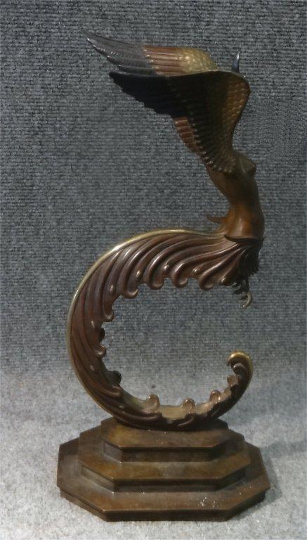 """ERTE BRONZE """"FIRE BIRD"""" #'D 180/250 - 6"""