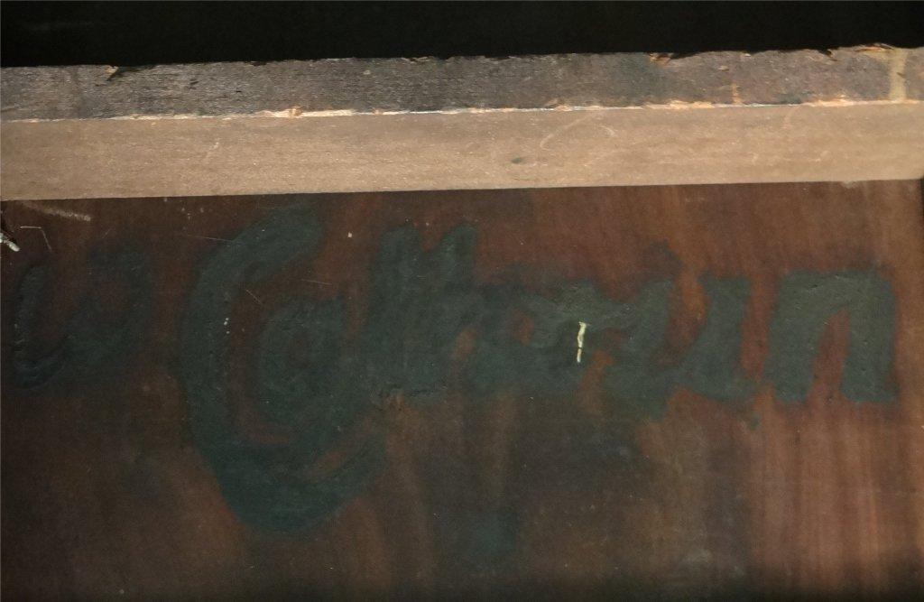 "31"" INLAID HEPPLEWHITE BOWED END PEMBROKE TABLE - 6"