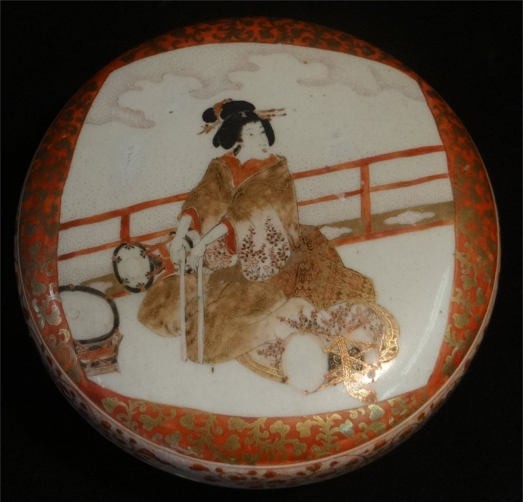 2 ORIENTAL PORCELAIN COVERED BOXES - 6