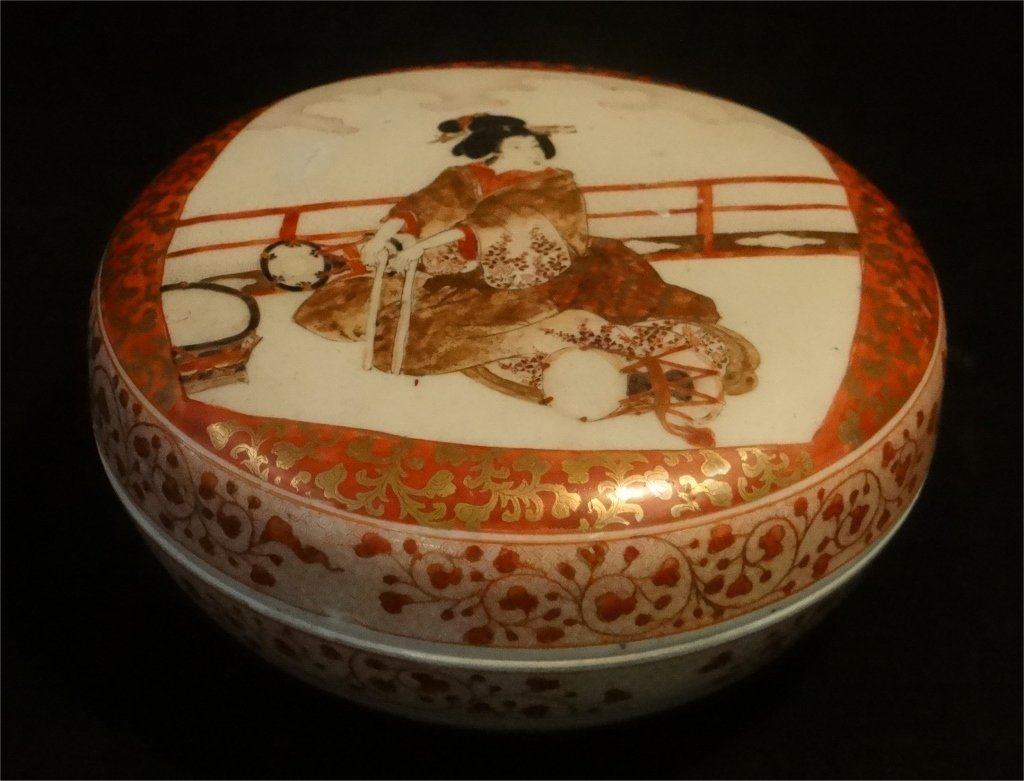 2 ORIENTAL PORCELAIN COVERED BOXES - 7