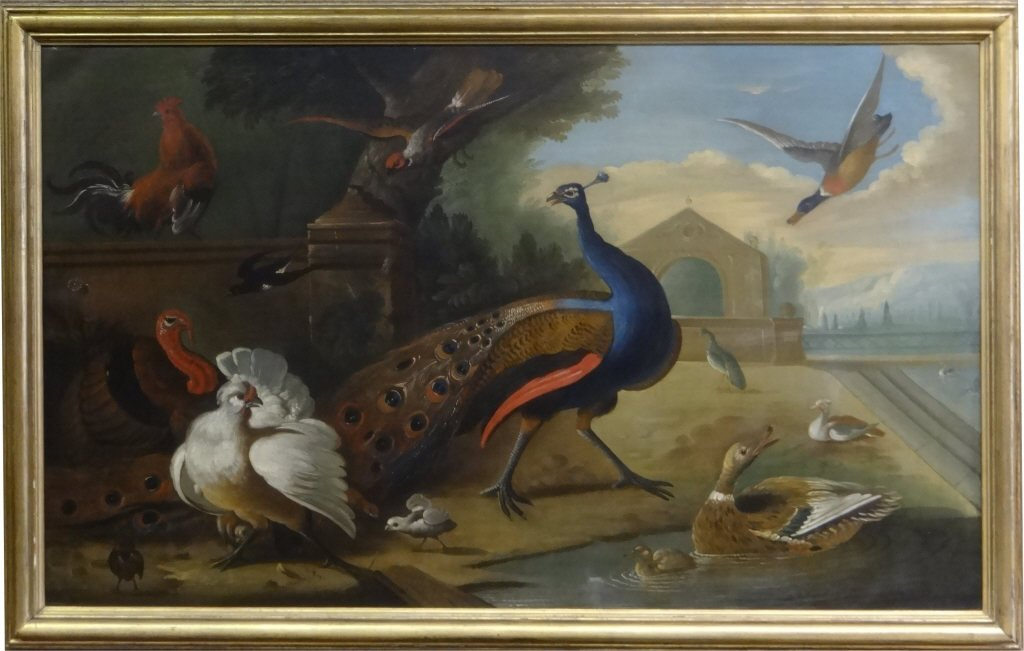 O/C OLD MASTER, EXOTIC BIRDS, CHRISTIES PROVENANCE