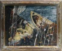 OC GLOUCESTER FISHING BOAT SGND JOHN R GRABACH