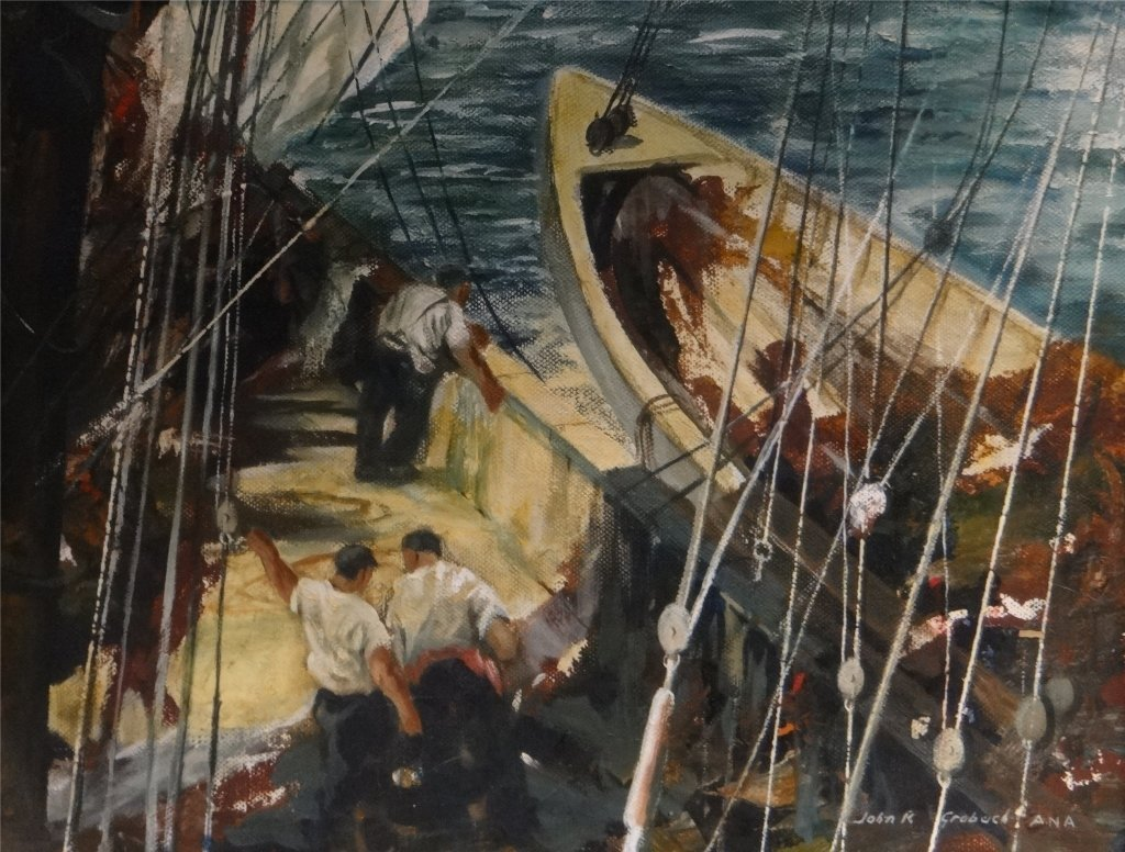 "O/C ""GLOUCESTER FISHING BOAT"" SGND JOHN R. GRABACH - 2"