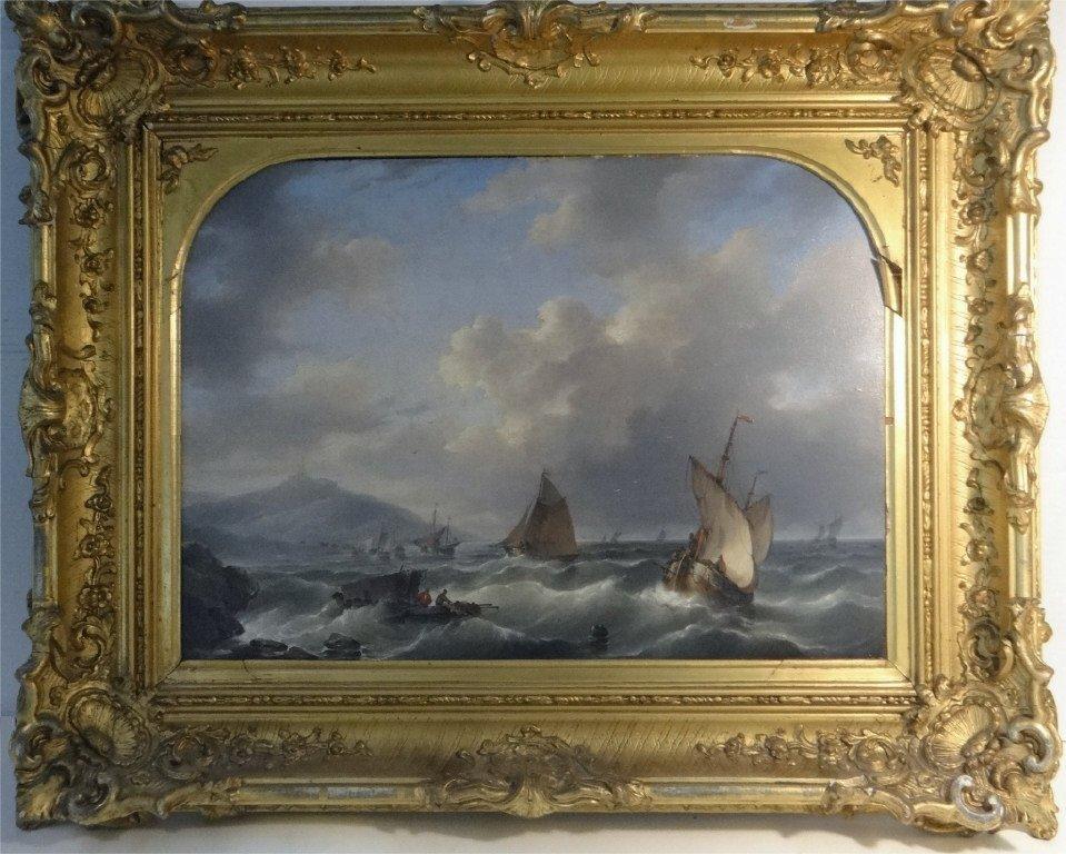 "O/P ""TUMULTUOUS SEAS"" SGND D. HENDRICKS-1804-1857"