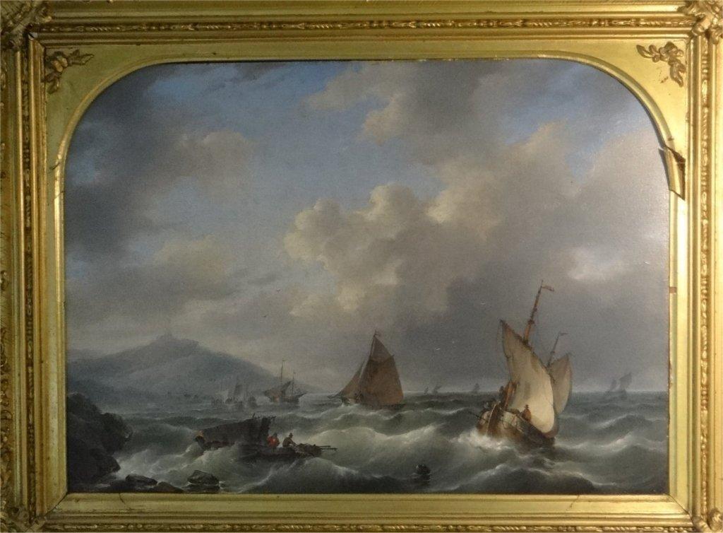 "O/P ""TUMULTUOUS SEAS"" SGND D. HENDRICKS-1804-1857 - 2"