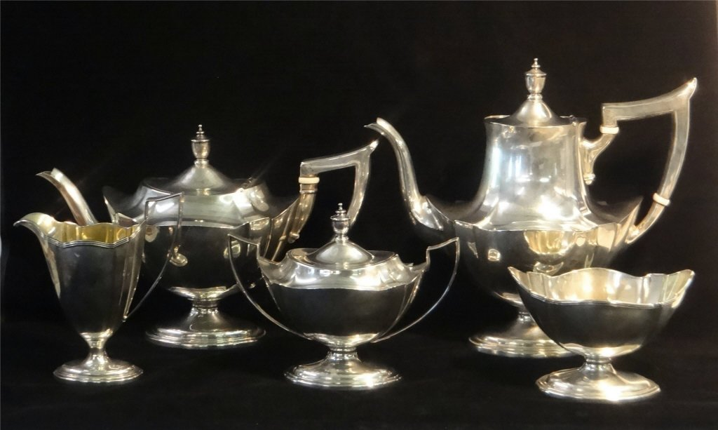 5 PC. GORHAM STERLING SILVER COFFE & TEA SET
