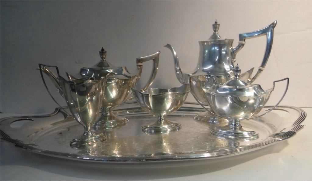 5 PC. GORHAM STERLING SILVER COFFE & TEA SET - 9