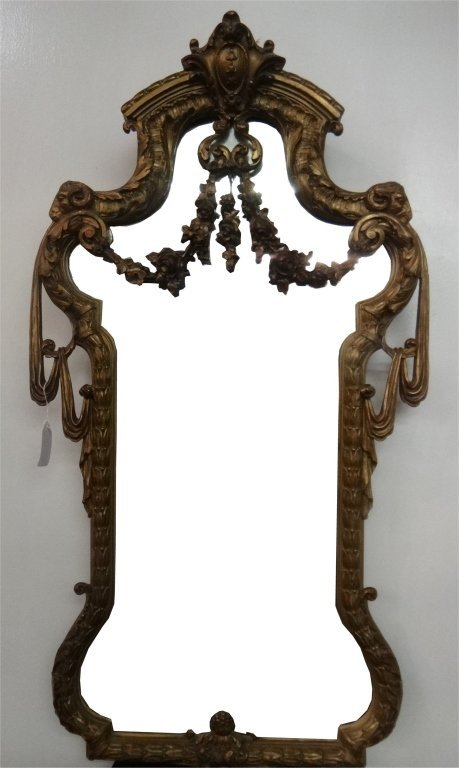 ENTRANCE HALL DEMI LUNE MARBLE TOP TABLE & MIRROR - 4