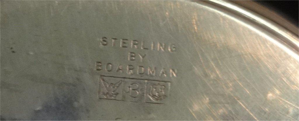 NY STERLINGG SILVER PLATE,GORHAM SUGAR & PORRINGER - 8