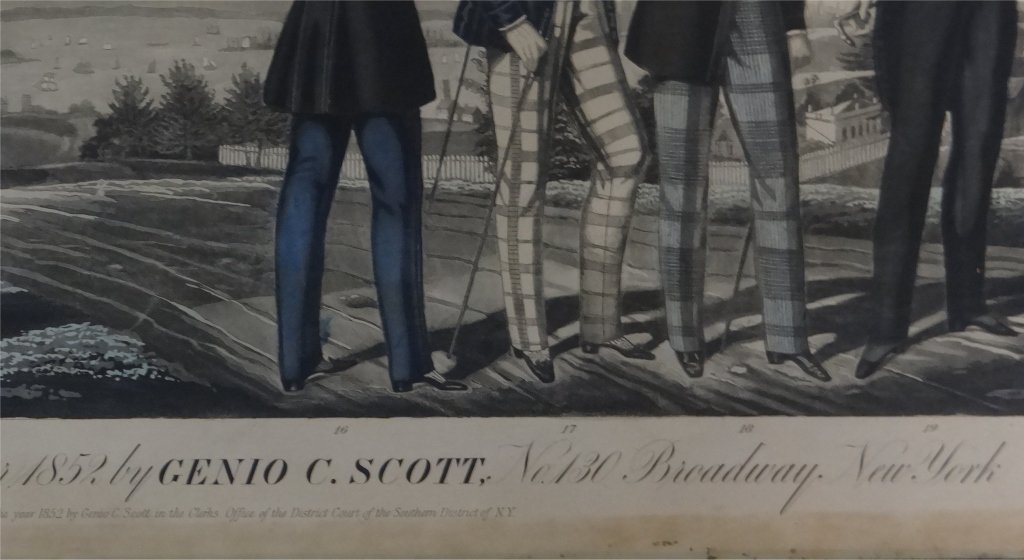 SPRING & SUMMER FASHIONS, 1852 LITHO BROADSIDE - 4