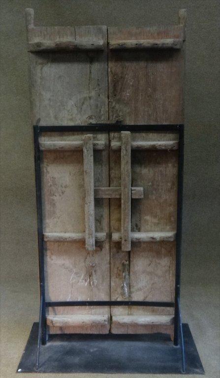 EXOTIC EARLY  DOOR / ROOM DIVIDER W/ HAND WROUGHT - 7
