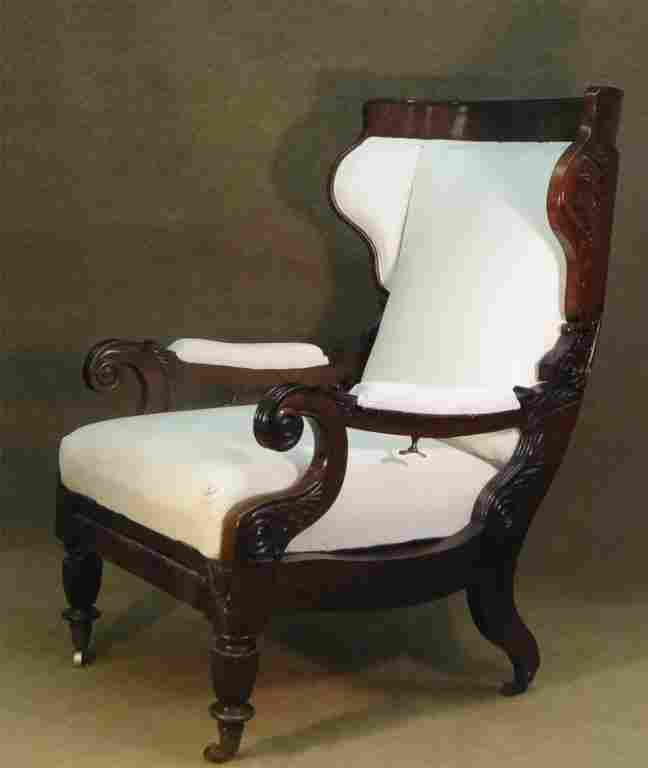 C.1825 BOSTON ROSEWOOD METAMORPHIC LIBRARY CHAIR