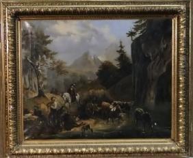 O/C ALPINE GENRE SCENE SGND KEFLER 1871
