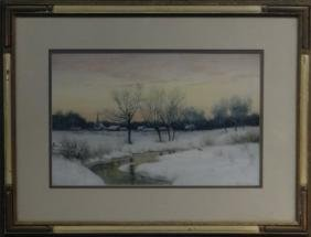"""W/C """"WINTER SUNSET"""" SGND W.C. FITLER, NY"""
