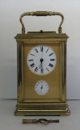 FRENCH CARRIAGE CLOCK W/ ALARM & REPEATER MOVEMENT