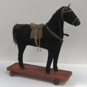 "19THC. HORSE PULL TOY 10 5/8"" LONG"