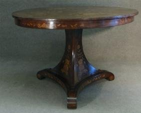 DUTCH MARQUETRY INLAID CENTER TABLE