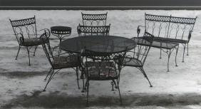 SET OF SALTERINI PATIO FURNITURE INC. TABLE,