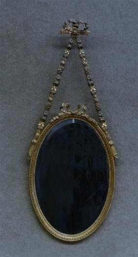 1930'S FRENCH STYLE BEVELED GLASS MIRROR