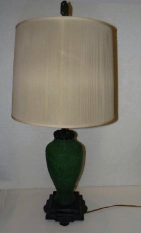 STEUBEN CAMEO GLASS LAMP