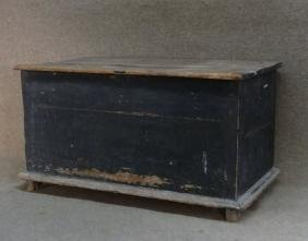 """EARLY 18THC. BLANKET CHEST IN OLD GREEN 37"""" WIDE"""