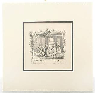 ORIGINAL WILLIAM HOGARTH: Theater Royal, 1757