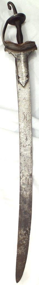 4: RARE SOUTH INDIAN HAND AND A HALF SWORD, KIRACH