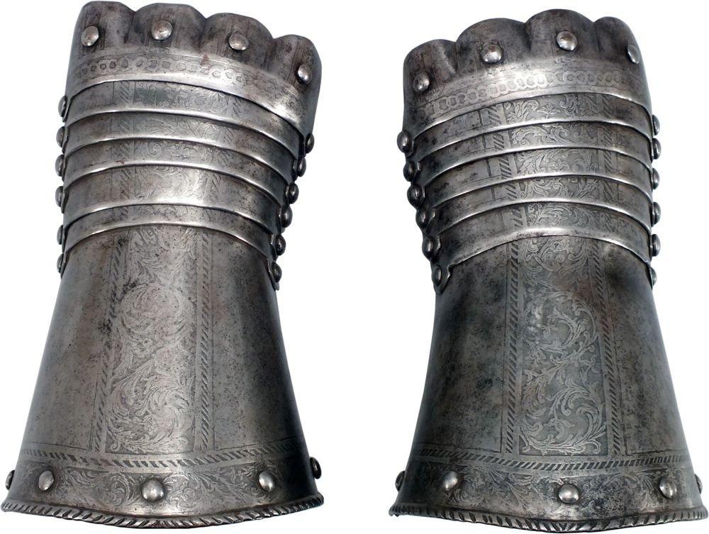 7: PAIR OF GERMAN ARMOR GAUNTLETS C.1580-90