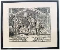 35: HOGARTH ORIGINAL LITHOGRAPH THEATER ROYAL