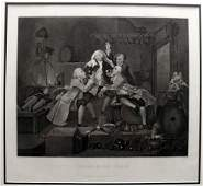38: HOGARTH ORIGINAL LITHOGRAPH CHARITY IN THE CELLAR